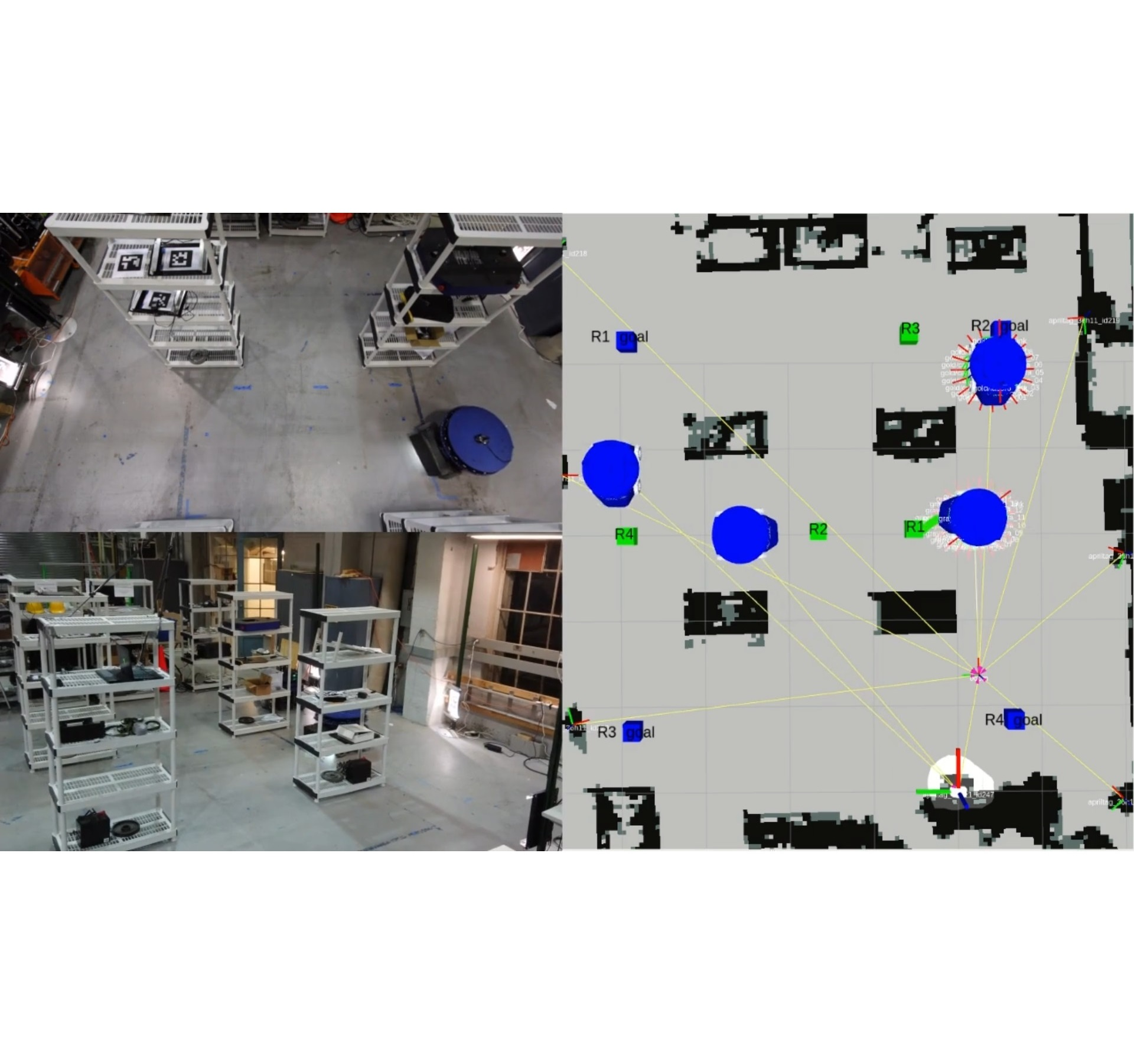 Multi-robot path planning in factory-like environments